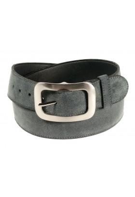 Широкий ремень из замши серого цвета (ширина 4 см) 4p camoscio