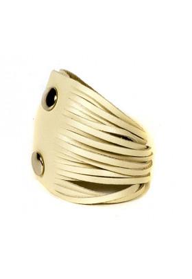 Бежевый кожаный браслет Braccialetto