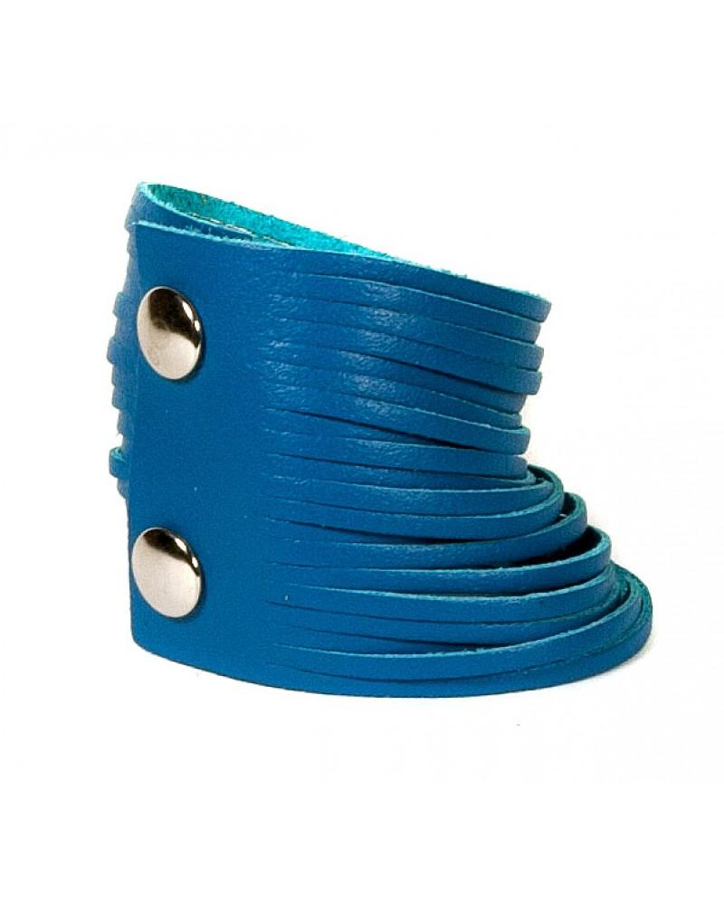 Синий кожаный браслет Braccialetto