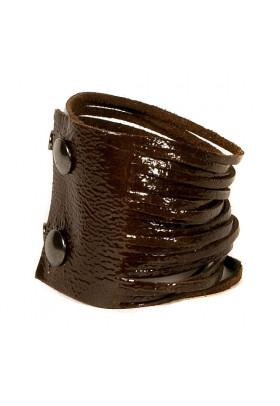 Коричневый кожаный браслет Braccialetto