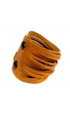 Красный кожаный браслет (питон) Braccialetto