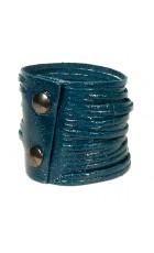 Кожаный браслет цвета петроль Braccialetto