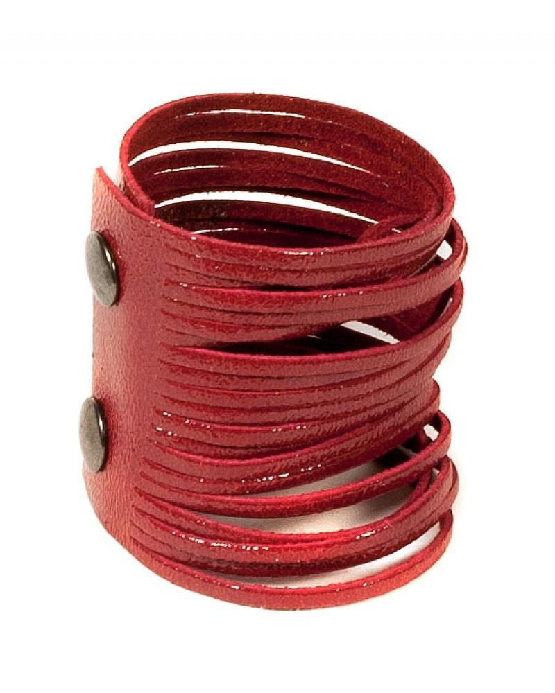 Красный кожаный браслет Braccialetto