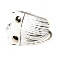 Белый кожаный браслет Braccialetto