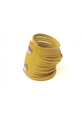 Желтый кожаный браслет Braccialetto