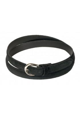 Узкий ремень из замши черного цвета (ширина 2 см) Camoscio 2
