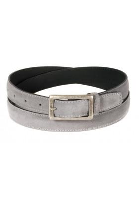Узкий ремень из замши серого цвета (ширина 2,5 см) Camoscio 25