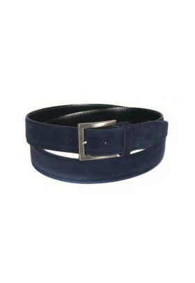 Ремень из замши синего цвета (ширина 3,5 см) Camoscio 35 uomo