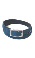 Узкий ремень из замши голубого цвета (ширина 2,5 см) Camoscio 25