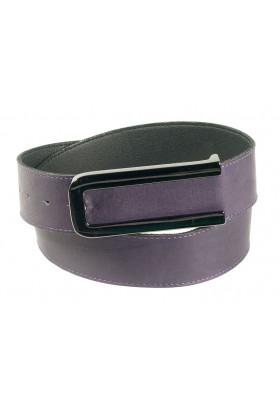 Широкий ремень из кожи пурпурного (фиолетового) цвета Cornice 4 PRP