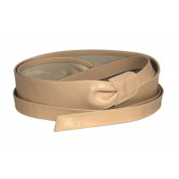 Широкий кожаный пояс бежевого цвета (кушак) Fusciacca Roma pelle
