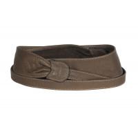 Широкий кожаный пояс коричневого цвета (кушак) Fusciacca Roma pelle