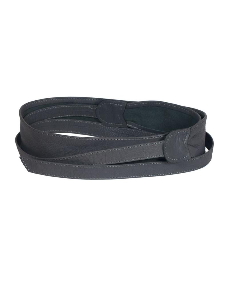 Широкий кожаный пояс темно-серого цвета (кушак) Fusciacca Roma pelle