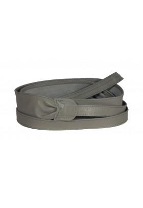 Широкий кожаный пояс серого цвета (кушак) Fusciacca Roma pelle