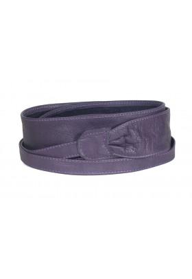 Широкий кожаный пояс пурпурного цвета (кушак) Fusciacca Roma pelle