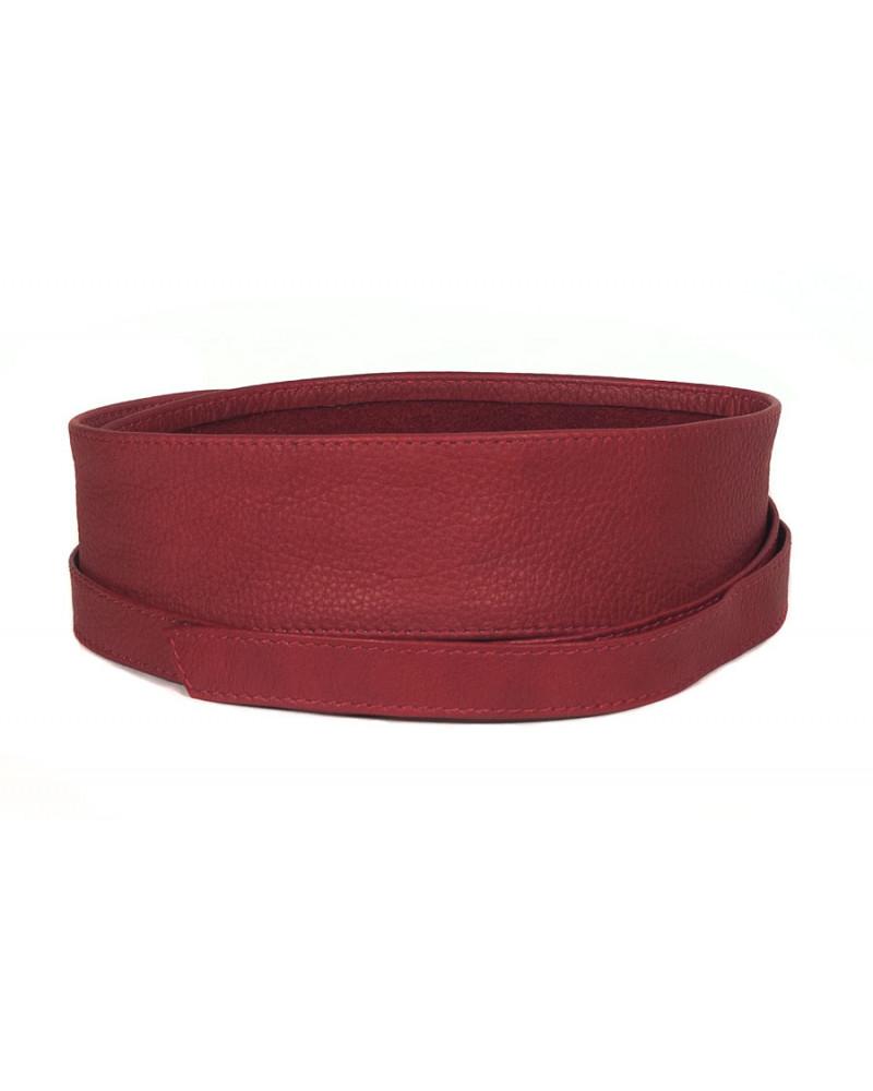 Широкий кожаный пояс красного цвета (кушак) Fusciacca Roma pelle