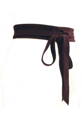 Широкий коричневый пояс из замши (кушак) FusciaccaRoma camoscio