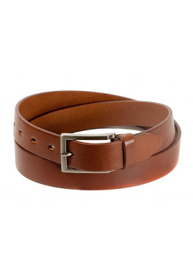 Брючный кожаный ремень цвета коньяк (ширина 3 см) Groppone 3