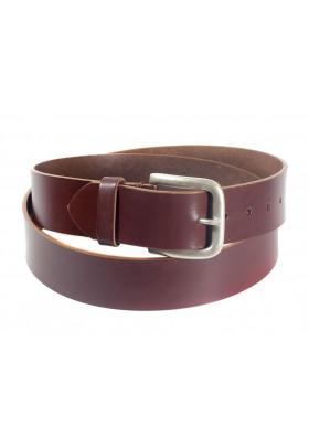 Широкий кожаный ремень для джинсов цвета коньяк (ширина 4,5 см) Groppone 45
