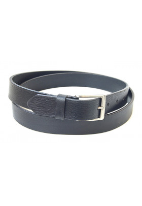 Брючный кожаный ремень черного цвета (ширина 3 см) Groppone 3