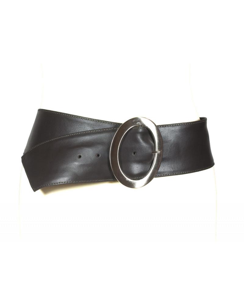 Широкий коричневый кожаный ремень Nappa O