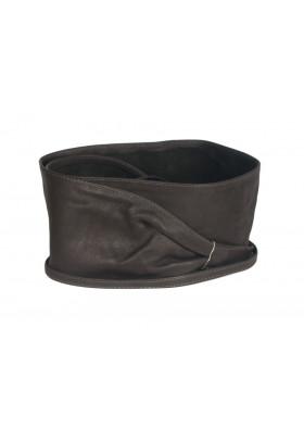 Широкий кожаный пояс коричневого цвета (кушак) Nodo Alta pelle