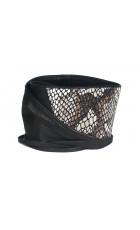 Широкий кожаный пояс черного цвета с текстурой питона (кушак) Nodo Alta pitonata BK