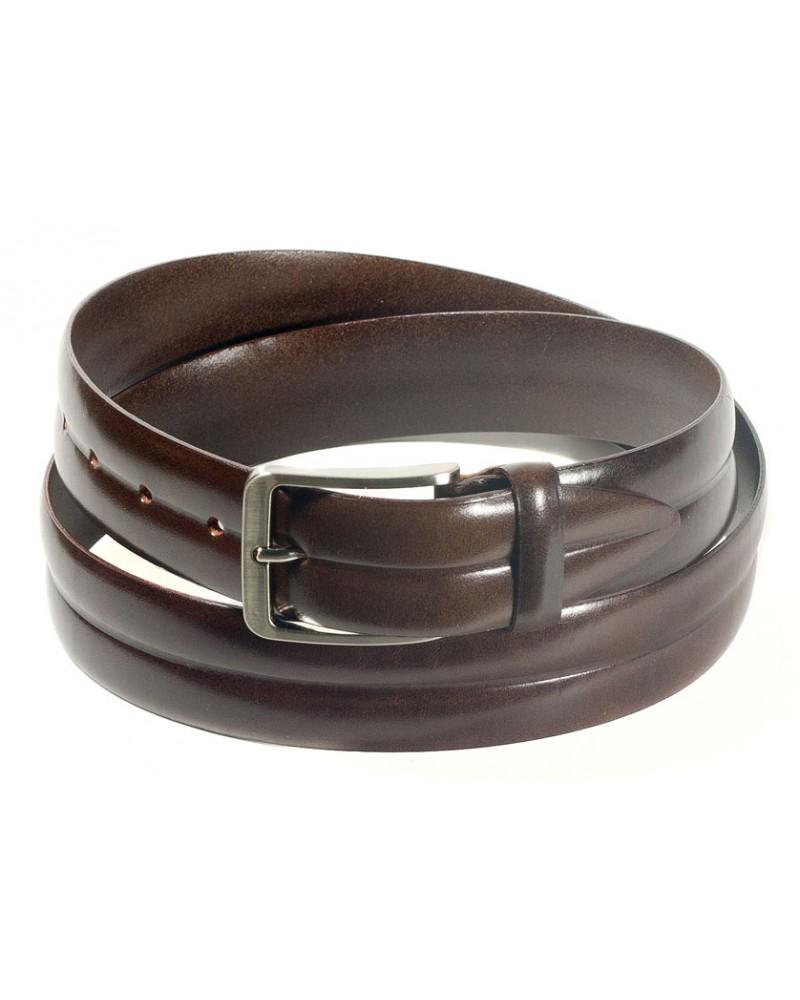 Брючный кожаный ремень коричневого цвета (ширина 3,5 см) Art. 01/35