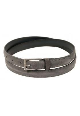 Узкий ремень из замши серого цвета (ширина 2 см) Camoscio 2