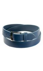 Синий ремень из кожи (ширина 3,5 см) Groppone 35