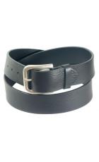 Широкий черный кожаный ремень для джинсов (ширина 4,5 см) Groppone 45